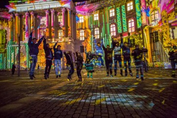 Unsere Internationals beim Festival of Lights während der Welcome Days