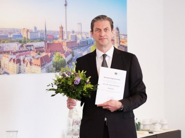Prof. Sven Schmedes at the Professorship Appointment