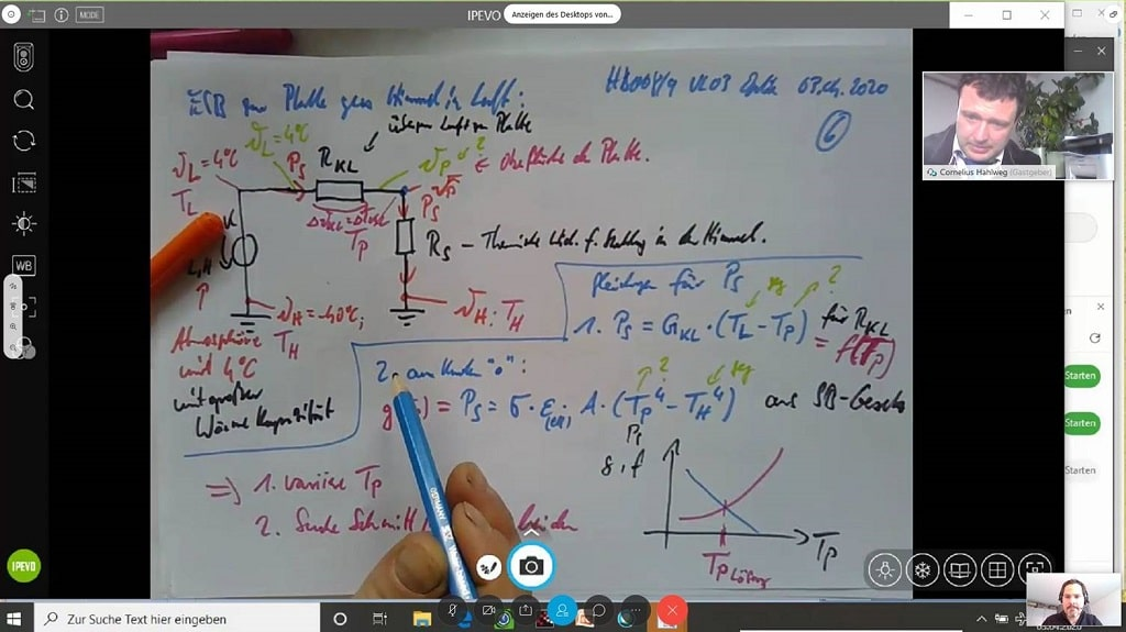 Dual Online Teaching: Topic Thermal Radiation