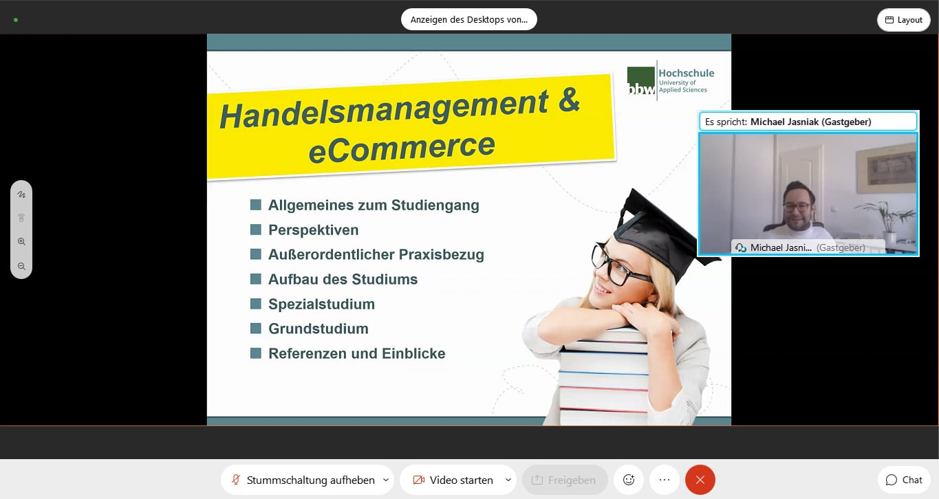 Online Open Campus Day: Trade Management and eCommerce with Prof. Jasniak