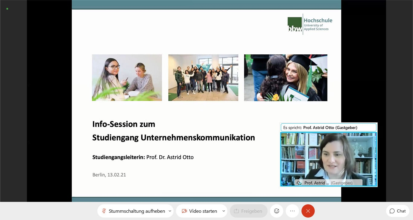 Online Open Campus Day: Business Communication with Prof. Otto