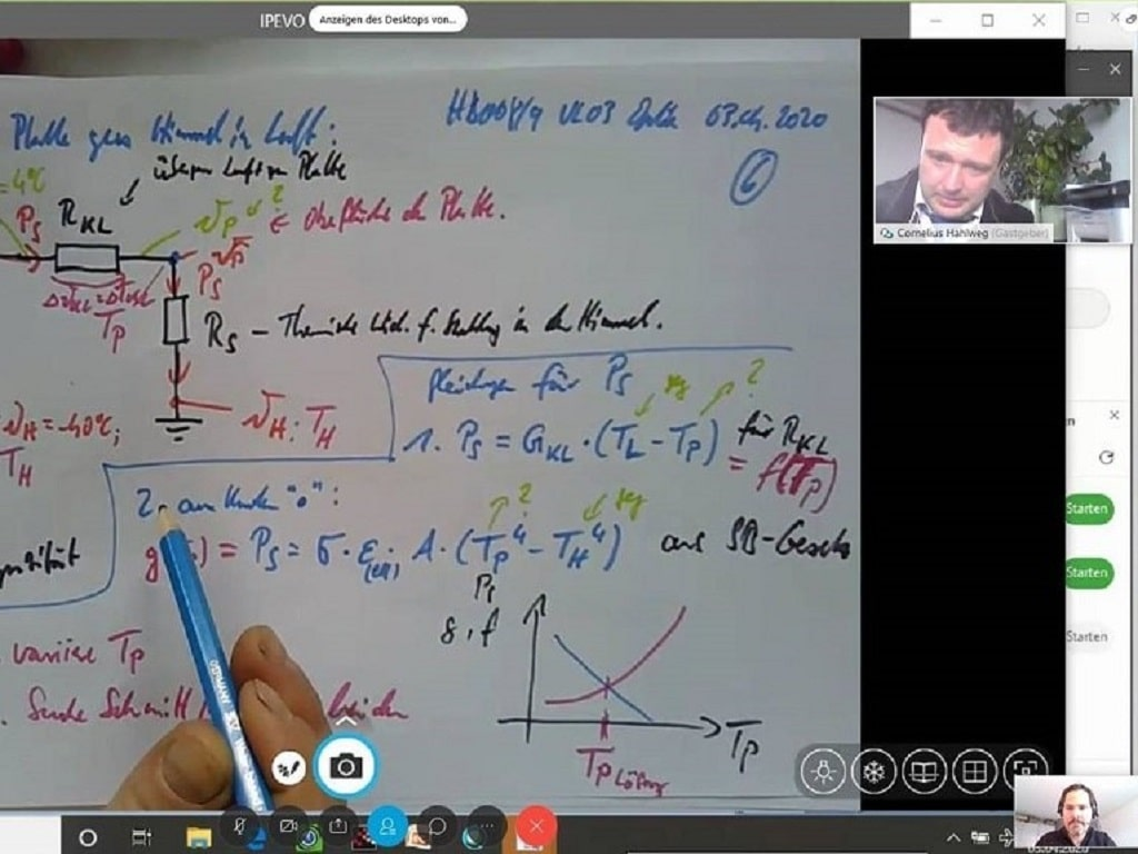 Online Lecture with Prof. Hahlweg